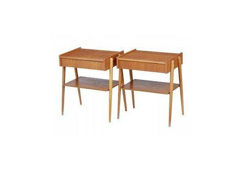 Pair Of 1960s Scandinavian Teak Bedside Tables.