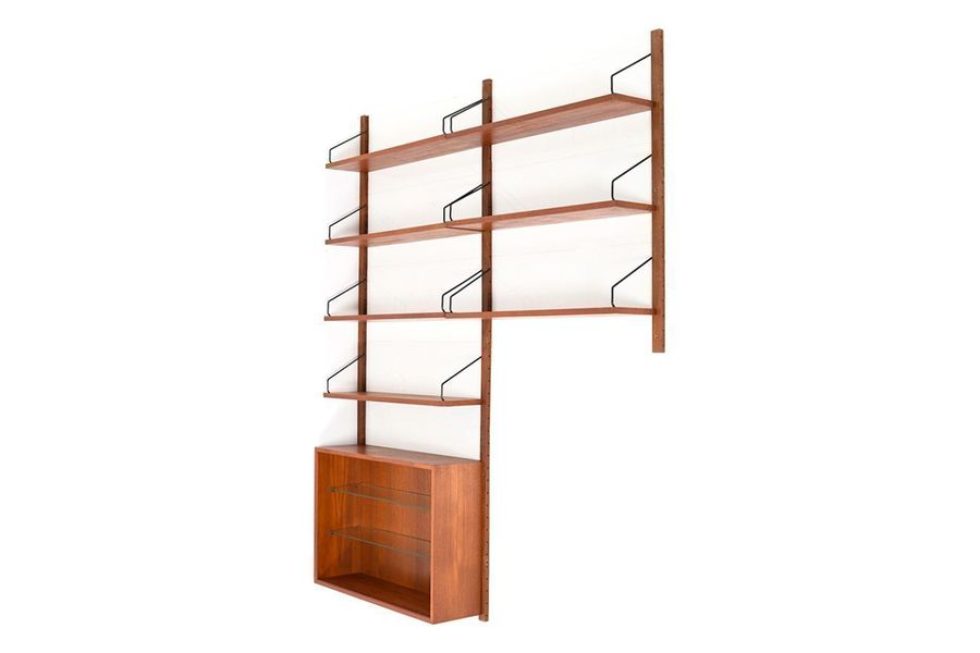 best service 88b71 c4f32 Small Vintage Royal System Shelving Unit In Teak By Poul Cadovius For Cado