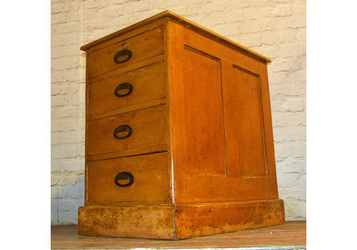 1940s Pine Four Draw Cabinet Industrial Vintage Haberdashery Drawer Storage Desk Office Chest Of Bedside