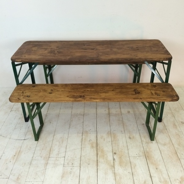 Fine Customised Length Vintage German Beer Table And Benches Evergreenethics Interior Chair Design Evergreenethicsorg