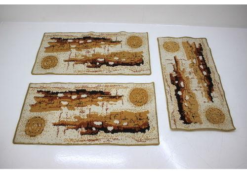 Set Of Three Retro Design Carpets/Rugs 1980´S.