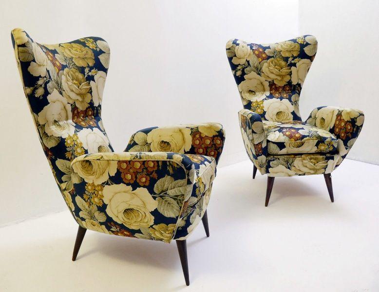 Vintage Italian Armchairs, 1950s, Set Of 2