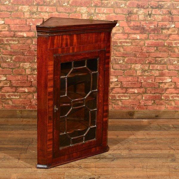 Georgian Glazed Corner Cabinet, C.1800