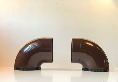 Danish Pipeline Sconces By Ole Pless For Nordisk Solar, 1970s, Set Of 2