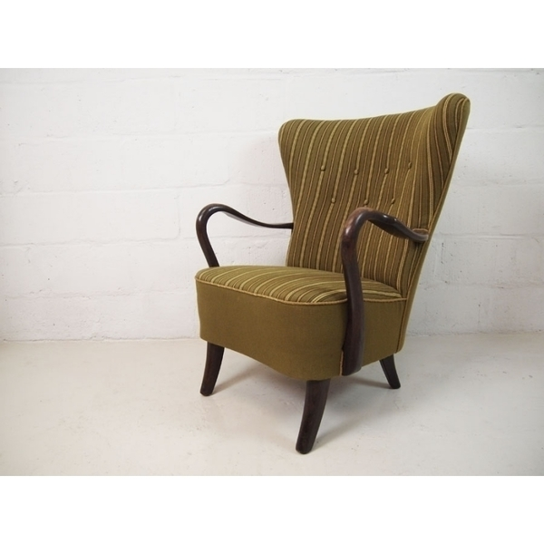 Alfred Christensen For Slagelse Møbelvaerk Wingback Chair