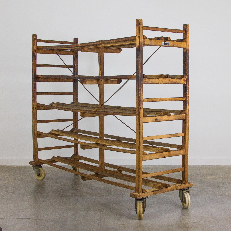 Wooden Bakery Bread Rack