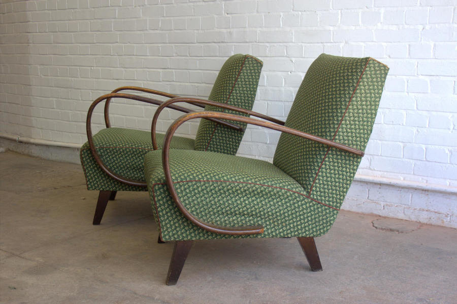 Surprising A Pair Of Jindrich Halabala Model 2 Lounge Chairs Circa 1940S Spiritservingveterans Wood Chair Design Ideas Spiritservingveteransorg