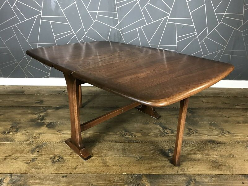 Magnificent Stunning Ercol Drop Leaf Coffee Table Vintage Retro Elm Drop Leaf Side Gateleg Squirreltailoven Fun Painted Chair Ideas Images Squirreltailovenorg
