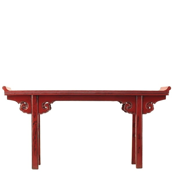 Red Lacquered Altar Table C.1915
