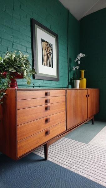 Rare Mid Century Danish Range Sideboard By Ib Kofod Larsen For G Plan 1960s