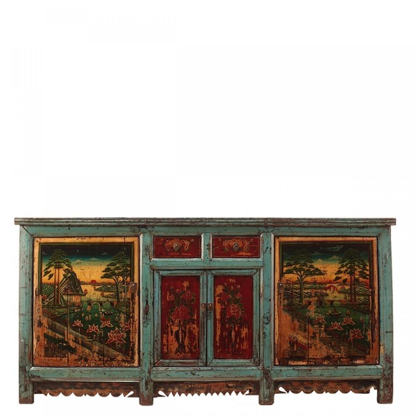 Antique Sideboard With Floral Decoration C.1920