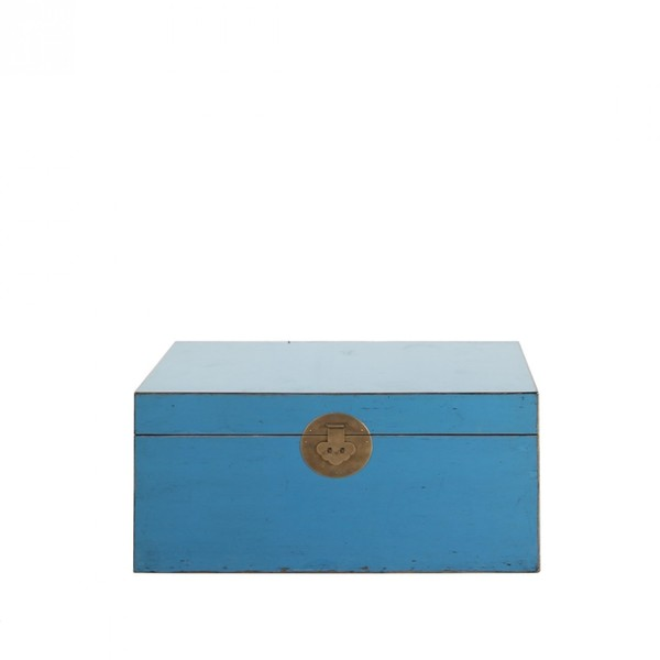 Turquoise Oriental Storage Trunk