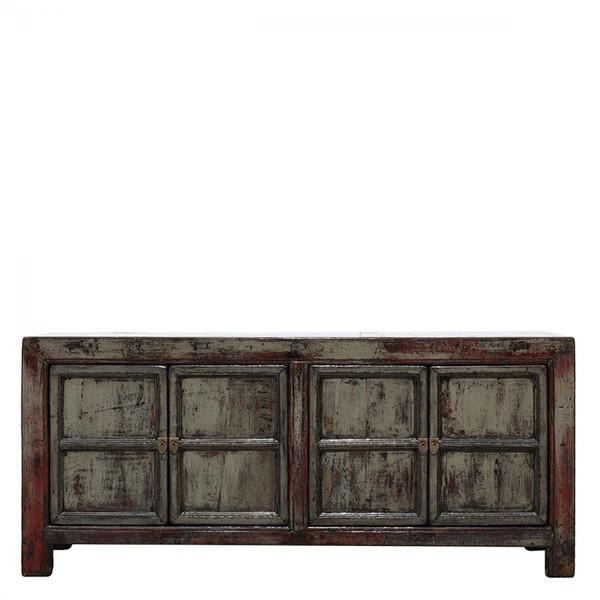 Grey Antique Sideboard C. 1920 Shandong Province
