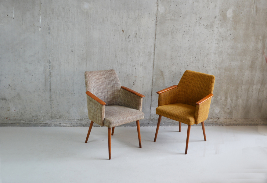 Pair Of 1960's French Mid Century Occasional Chairs