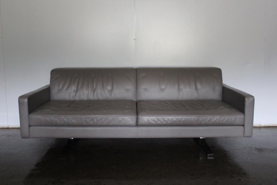 Poltrona No Pelle.Rare Immaculate Poltrona Frau Kennedee 2 Seat Sofa In Grey Pelle Leather