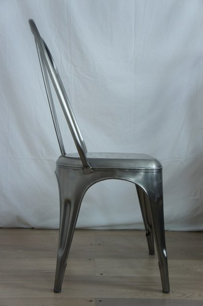 Silver 1930's Style Tolix Metal Chair