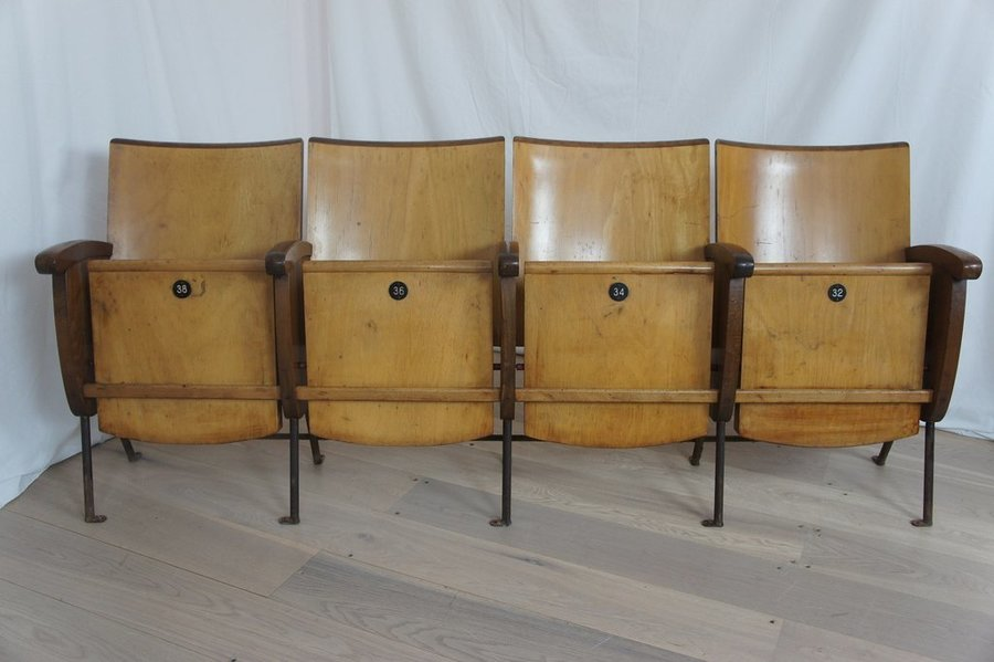 Wooden Bank Of Cinema Seats (4)