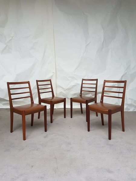 f6725cce26d2 Vtg Set Of 4 Mid Century Teak Dining Chairs Scandinavian 60s 70s Retro  Danish | Vinterior