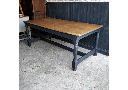3a8fc00ebbcdf 8 Seater Vintage Refectory Dining Table