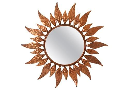 5f846c041612 Midcentury French Copper Sunburst Wall Mirror