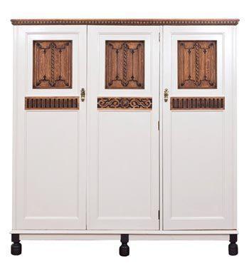 Vintage Three Door Oak Pantry
