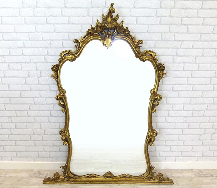 Ornate Gilt Pier Mirror photo 1