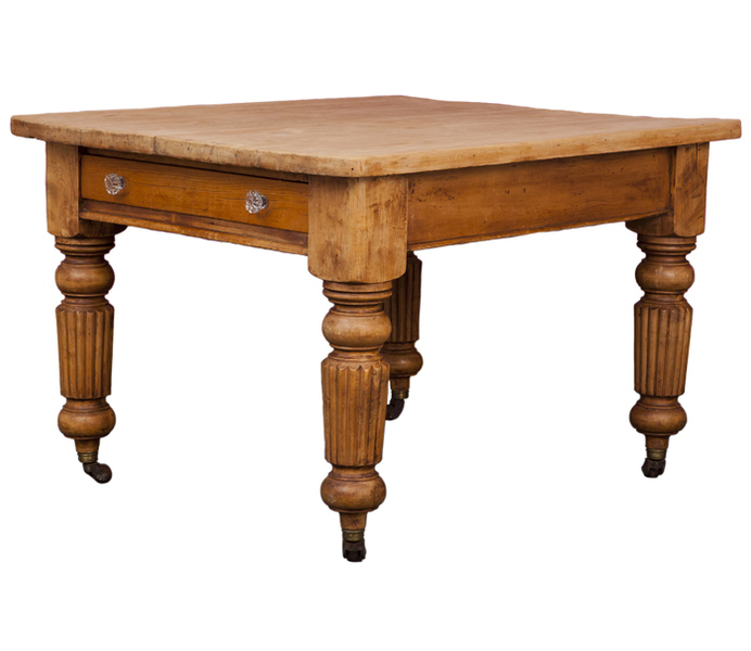 Antique Pine Kitchen Table Circa 1840 photo 1