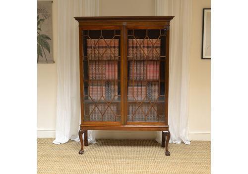 Edwardian (1901-1910) Whatnot Collectors Shelving 100% Original Antique Edwardian Mahogany Wall Mounted Shelves