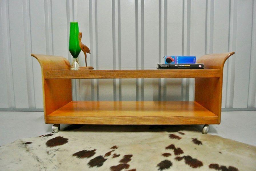 Coffee Table With.Retro Vintage Mid Century G Plan Teak Tulip Glass Coffee Table With Magazine Shelf