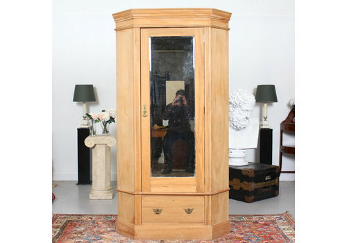 Edwardian (1901-1910) Armoires/wardrobes Ornate Victorian Double Mirror Door Wardrobe With Key 100% Guarantee