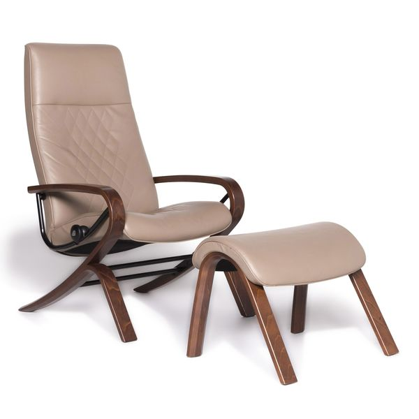 Stressless You James Designer Leather Armchair Beige Function #8945 photo 1