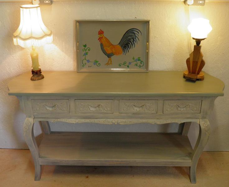 Oriental Hardwood Console Table