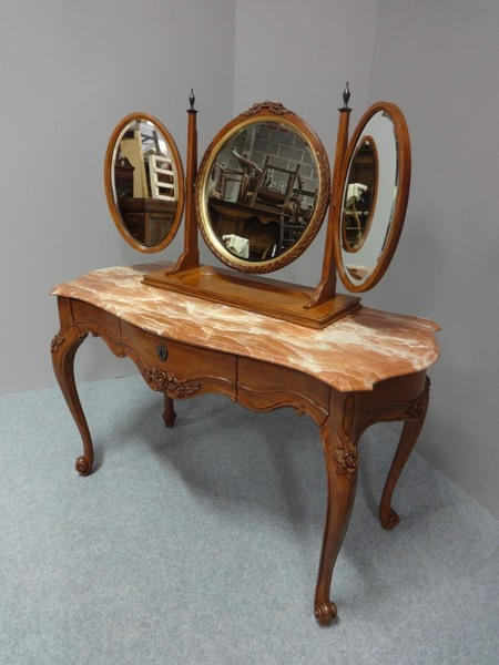 size 40 394eb 4300c French Marble Topped Dressing Table