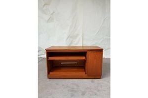 Thumb vtg mid century sideboard record player cabinet cupboard media vinyl storage 0