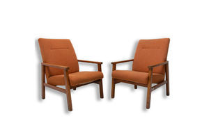 Thumb pair of mid century danish style armchairs for ton 1970 s ton 0