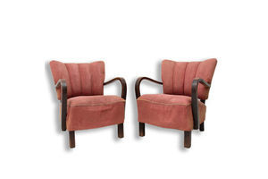 Thumb pair of h 237 cocktail armchairs by jindrich halabala czechoslovakia 1950 s 0