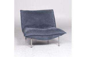 Thumb ligne roset calin designer leather armchair blue relax function 9285 0