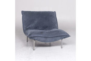 Thumb ligne roset calin designer leather armchair blue relax function 9286 0