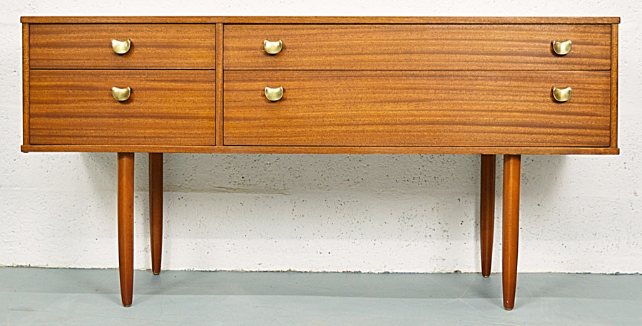 Mid Century Vintage Teak Chest Of Drawers By Avalon