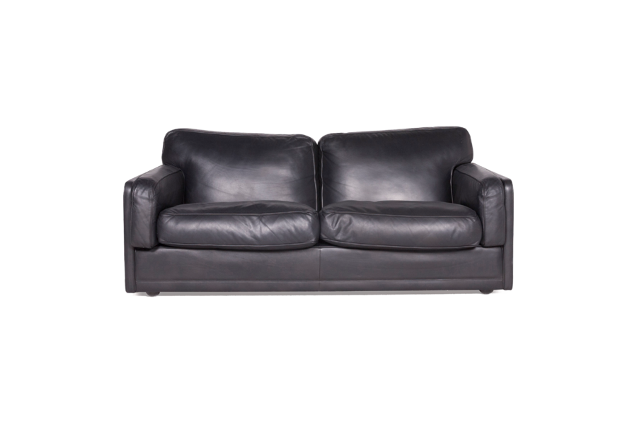 Poltrona Sofa.Poltrona Frau Socrate Designer Leather Sofa Black Genuine Leather