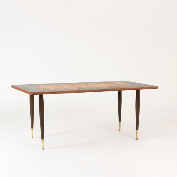 Mid Century Coffee Table.Mid Century Coffee Table With Inlays From Broderna Miller