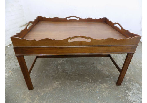 Repro Antique Large Mahogany Butler Table Coffee Se
