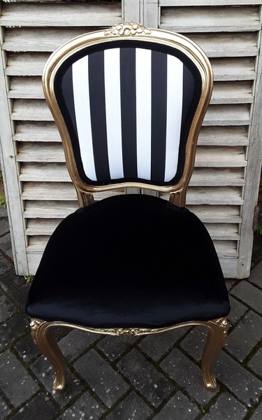 Miraculous Black And White Striped Velvet Louis Chair Camellatalisay Diy Chair Ideas Camellatalisaycom