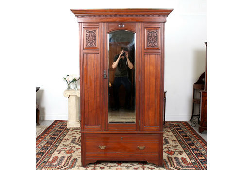 Edwardian/victorian Wardrobe Beautiful In Colour Armoires/wardrobes