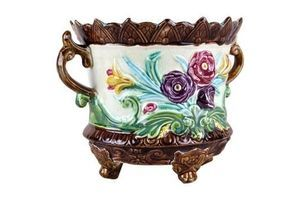 Thumb ceramic planter or cachepot art nouveau france circa 1900 0