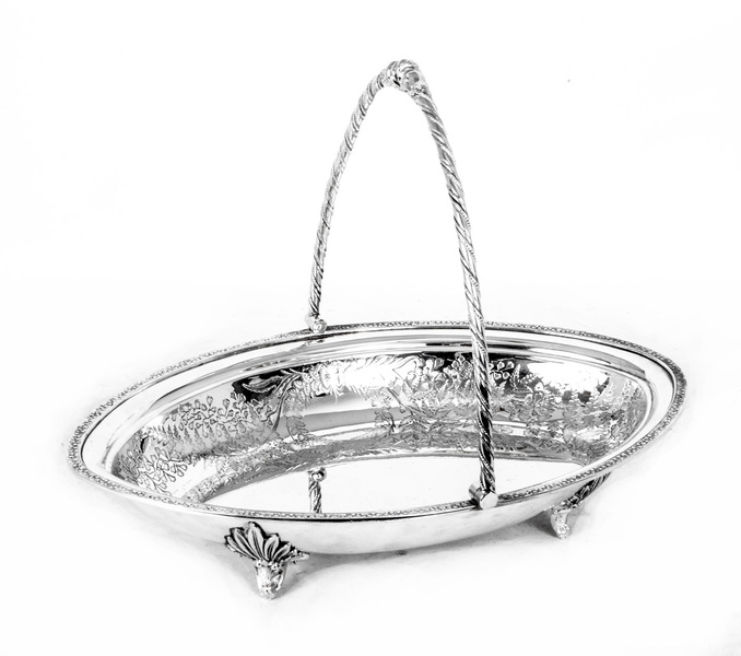 Antique Victorian Silver Plated Fruit Basket James Deakin photo 1