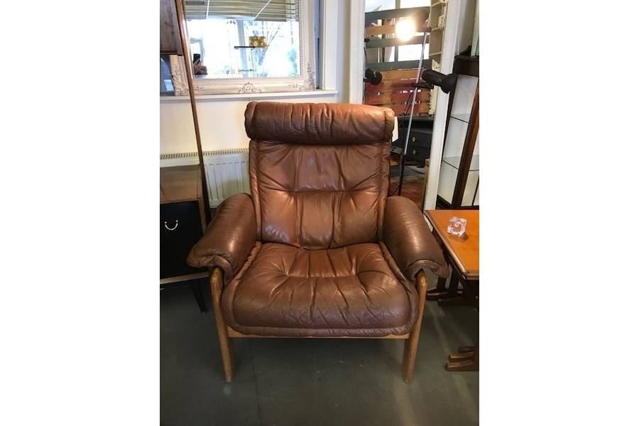 Tan Leather Recliners (Pair Available)