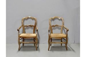 Thumb pair of louis philippe straw chairs 19th 0