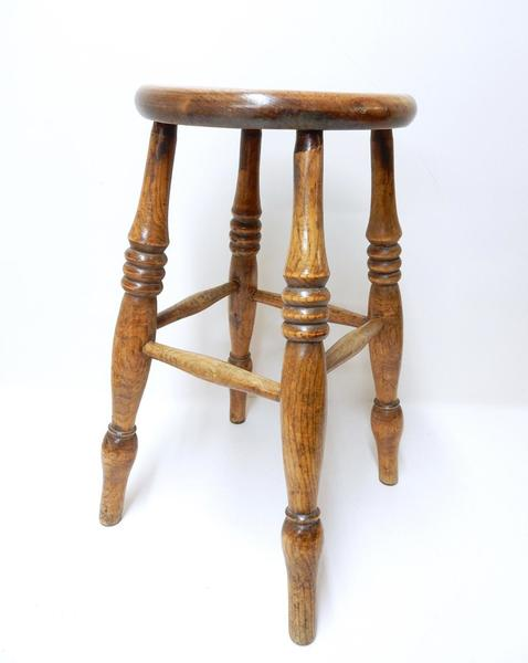 Antique Victorian Windsor Stool