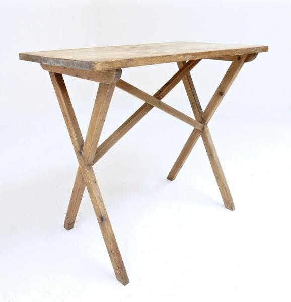 Small Pine Tavern Table With Penwork Gameboard
